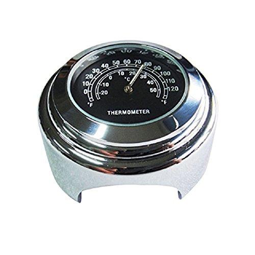 """SODIAL(R) Wasserdichtes 7/8"""" Motorrad Lenker Fahrradhalterung Temperatur Thermometer YAMAHA Harley (Schwarz)"""