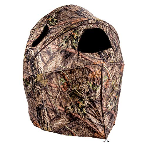 Ameristep Deluxe Tent Chair Blind | 2-Person Hunting Blind in Mossy Oak Break-Up Country, One Size