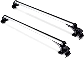 """ElfAnt Universal Roof Rack Crossbars Width Less Than 48"""" Adjustable for Most Vehicle Wagon Car Without Roof Side Rail (Pack of 2) 180LBS /80KG Capacity"""