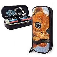 ペンケース 筆箱 可愛い猫 (3) 軽量 多機能 大容量 Pu 革 鉛筆のサック 鉛筆ケース ペン袋 文具収納 文房具 中学生 高校生 通勤・通学用 メンズ レディース