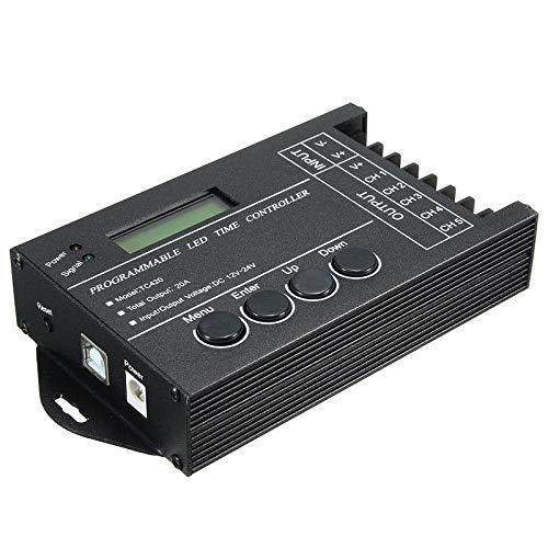 SODIAL Tc420 Zeit Programmierbare Rgb-Led Controller Dc12V-24V 5 Kanal Led Timing Dimmer