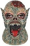 Soar-Tarps Scary Mask Halloween Mask Halloween Horror Mask Latex Rotten Headgear Haunted House Prank Toys Party Bloody Head Props Bar Tricky Frighten Face Headgear