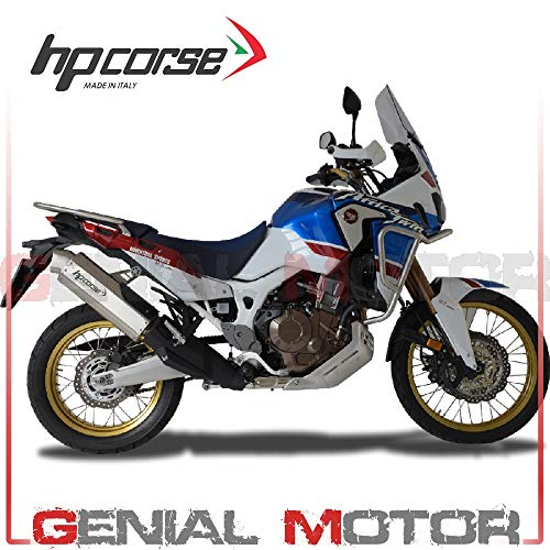 HO4T1022S-AB Terminale Scarico Hp Corse 4Track Satin Crf 1000 L Africa Twin 2017 17