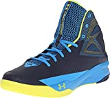 Under Armour Men's Rocket Basketball Shoes Midnight Navy/Electric Blue/Yellow Ray Size 8.5 M US