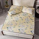 Sommermatte, Sommerschlafmatten Bettlaken Modal Washed Latex Matte Dreiteiliges Dickes Latex-Mattenset Klimatisierte gepolsterte Tagesdecke