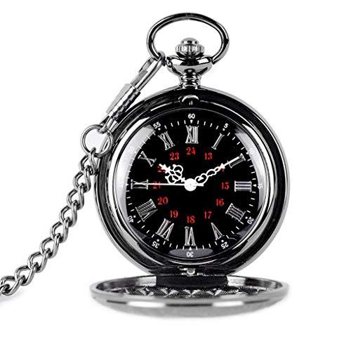 Reloj de bolsillo elegante clásico.Reloj de bolsillo y cadena de relojes de bolsillo, patrón de grabado de la vendimia Cartel de Cambie de Cambie como Día de Padre / Eleder Regalo / Aniversario / Navi
