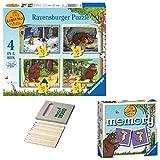 Price Toys del Rompecabezas Jigsaw Gruffalo Regalo Set-4 en una Caja (12, 16, 20, 24pc) - Mini Juego de Memoria (4inbox / Juego de Memoria)