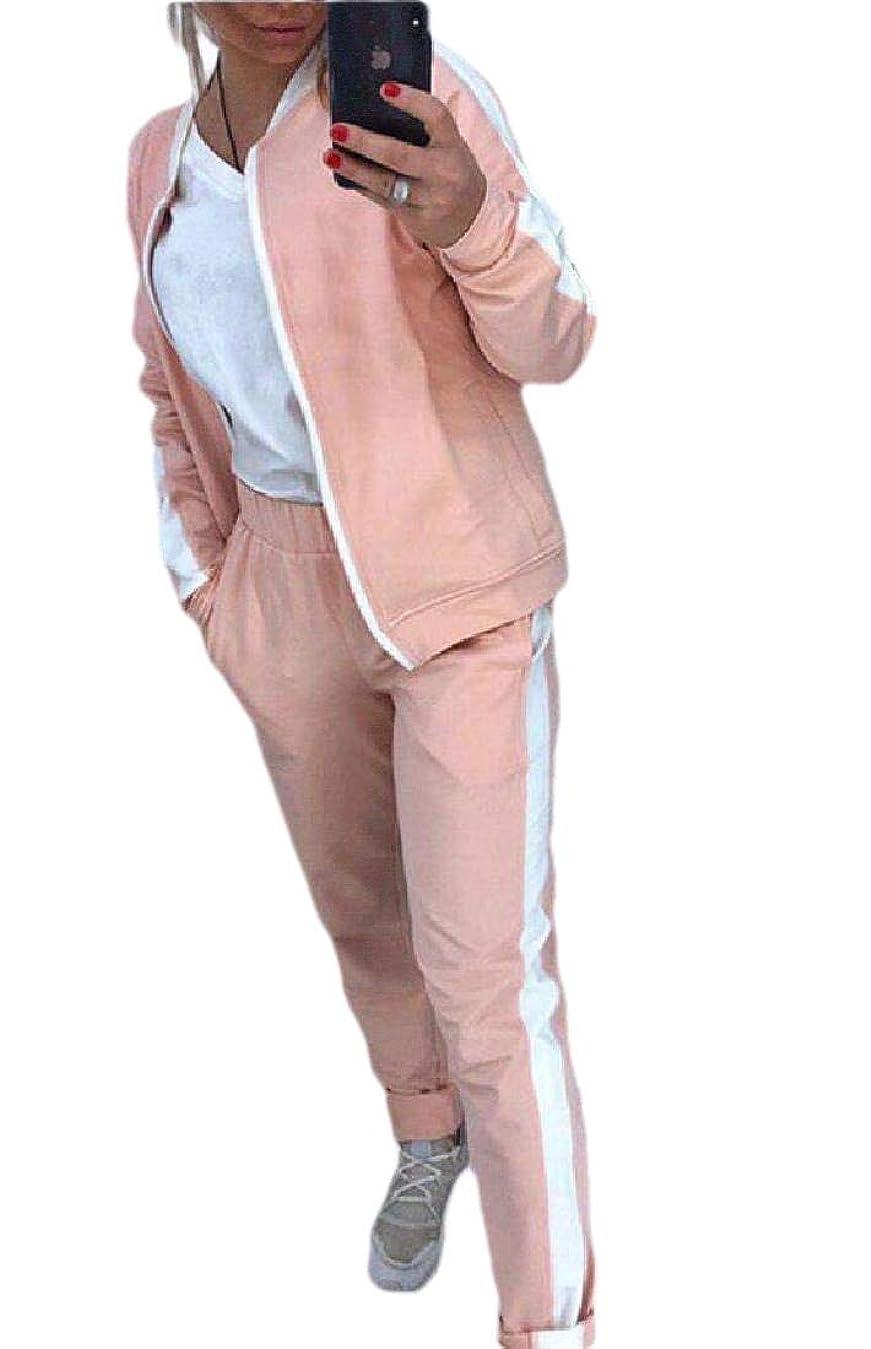 日付ヘッドレス愛人レディース2ピース衣装ロングスリーブフルジップジャケットとパンツセットトラックスーツ