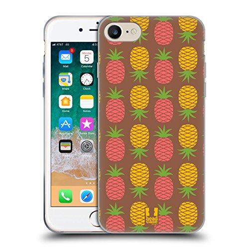 Head Case Designs Cacao E Ananas Pattern Ananas Cover in Morbido Gel e Sfondo di Design Abbinato Compatibile con Apple iPhone 7 / iPhone 8 / iPhone SE 2020