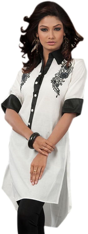 1545 Designs Women's White Button Work Shirt Blouse Dress