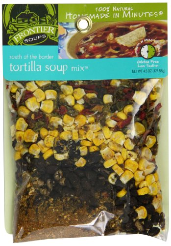 Frontier Soups Homemade In Minutes South Of The Border Tortilla Soup, 4.5-Ounce Bags (Pack of 4)
