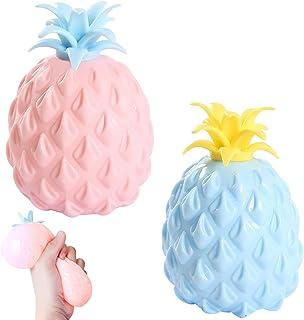 ZoneYan 2 st ananas squeeze, ananas stressleksak, ananas leksak för barn, ananas boll, ananas squishy leksak, squishy sque...