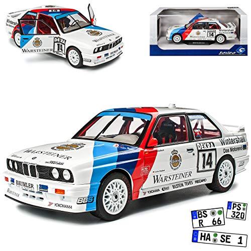 B-M-W 3er E30 M3 Coupe Sport Evolution DTM 1992 Winkelhock Warsteiner 1982-1994 1/18 Solido Modell Auto
