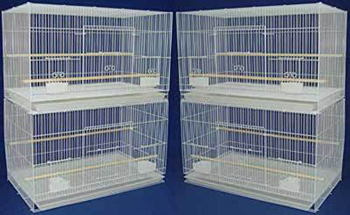 """Mcage Lot of Breeding Bird Flight Cages for Canary Parakeet Aviaries Budgies Lovebird Finch (Large 30"""" White)"""