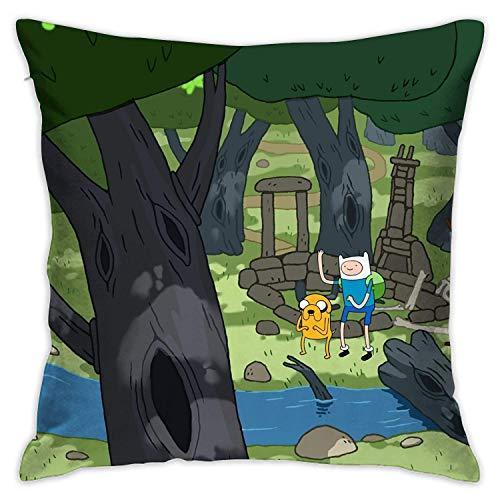 Lavyingy, federa per cuscino simile a Adventure Time, 45,7 x 45,7 cm, decorativa per divano, letto, camera da letto, sedia