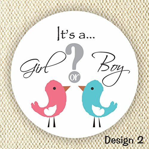 Gender Reveal Stickers - Girl or Boy Stickers - Baby Shower Stickers - Pink or Blue Shower Labels