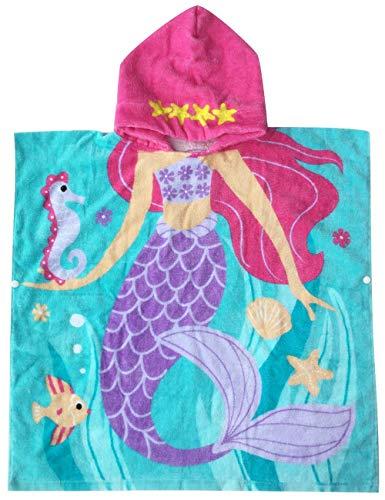 Runuo Kids Hooded Badjas Strand Handdoek,100% Katoen Hooded Ponchos Handdoek voor Bad,Slaappak,Zwemmen, Strand Vakantie
