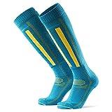 DANISH ENDURANCE Calcetines Térmicos de Esquí de Lana Merino 1 Par (Azul/Amarillo, EU 43-47)