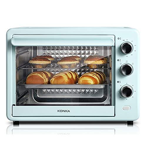 Toaster oven Four Grille-Pain De Grande Capacité 32L Trois Modes De Cuisson Quatre Couches Position De Cuisson, Y Compris Le Plateau De Cuisson Grill Plateau À Miettes Récupération du Clip 1500W Bleu