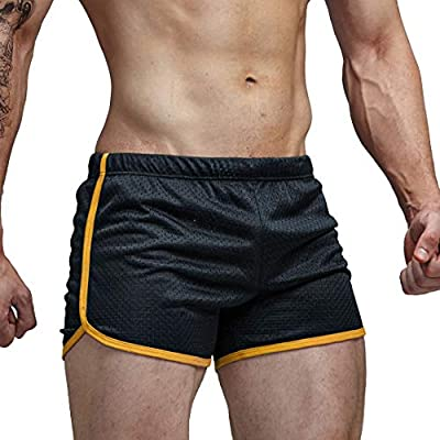 AIMPACT Black Mens Running Athletic Shorts with Drawstring(AC11Black L)