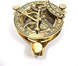 """Brass Anchor Compass Measures approx 4.25"""" in diameter ."""