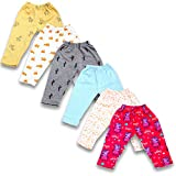 Baybee Baby Cotton Pyjamas Pant Bottom | Pack of 6 Assorted colours & Cute Prints May Vary Sleep Pants-Pyjama for Boys and Girls-Night Wear Pajama Combo Pack of newborn baby Multicolored (6-9 Months)