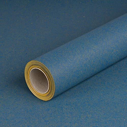 Geschenkpapier Blau, einfarbig, Recyclingpapier, glatt, 80 g/m², Geburtstagspapier - 1 Rolle 0,70 x 10 m