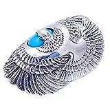 FORFOX Bague Aigle en Argent Sterling 925 avec Turquoise Naturelle pour Hommes Femmes...