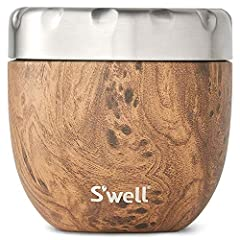 Vacuum-insulated outer food bowl is crafted from 18/8 stainless steel and made to keep food temperature-controlled. TRIPLE-LAYERED INSULATION: S'well Eats Teakwood fuels all your food needs with this triple-layered, vacuum-insulated food container th...