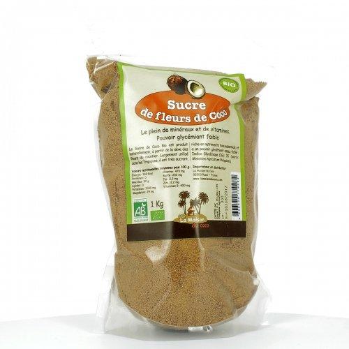 LA MAISON DU COCO - Sucre de fleurs de Coco bio 1 kg - Philippines - Sucre