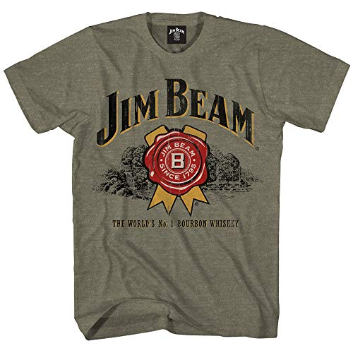 Jim Beam Herren Bourbon Shirt Bourbon Whiskey Logo Shirt Graphic Shirt - Grün - Mittel