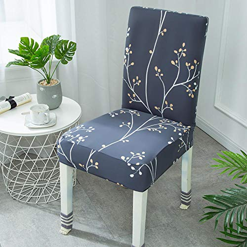 Universal stretch stolöverdrag mörkgrå och elegant avtagbart stolskydd modernt skydd säte stol matsal överdrag överdrag överdrag för hotell fest bankett bröllop bukett 6/set