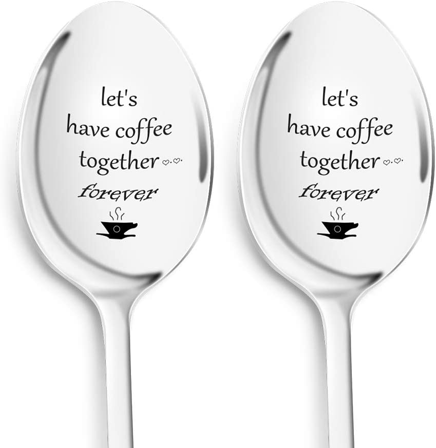 Credence Dafuz Coffee Spoons Let's Have Forever Together 7.5 Inche free