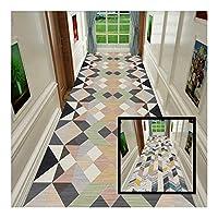 CnCnCn 廊下 カーペット ランナー 柔らかい クリスタルベルベット リビングルーム キッチン エリアラグ 入り口 玄関マット カスタムサイズ (Color : A, Size : 140x300cm)