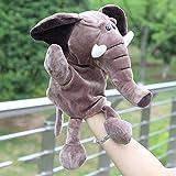 Ocamo Los niños Super Lindo 30 cm de Dibujos Animados Marionetas de Mano de Peluche Juego muñeca de Juguete Relleno Elefante