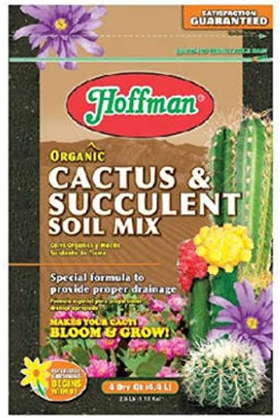 Hoffman 10404 Organic Cactus And Succulent Soil Mix 4 Quarts Brown A