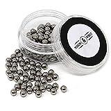 Maison & White Magic Reinigungskugeln | Wiederverwendbarer Edelstahl - Kugelsatz zur Reinigung von Glaswaren Flaschenreinigungs - Perlen für Dekanter, Vasen und Glaswaren