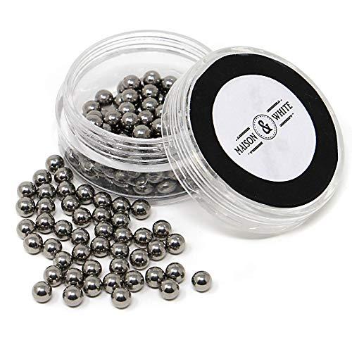 Maison & White Sfere magiche per la pulizia | Set di sfere riutilizzabili in acciaio inossidabile per la pulizia della vetreria | Perle di pulizia delle bottiglie per decantatori, vasetti e bicchieri