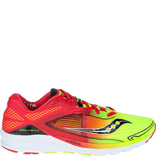 Saucony Kinvara 7, Men's Running Shoes, Red (Red/Citron), 7.5 UK (42 EU)