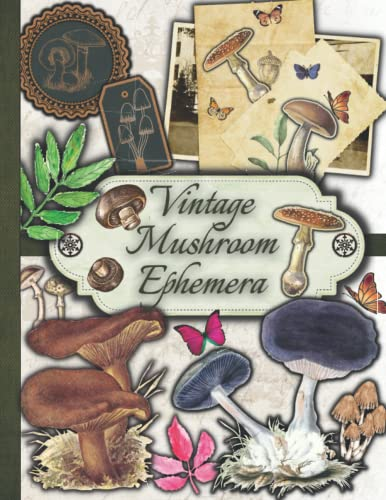 Compare Textbook Prices for Vintage Mushroom Ephemera: One-Sided Decorative Paper for Junk Journaling, Scrapbooking, Decoupage, Collages, Origami, Fussy Cut, Card Making & Mixed ... of Authentic Ephemera 160+ Vintage Pieces  ISBN 9798492444556 by Paper Publishing, Peter,Ephemera Art, Vintage