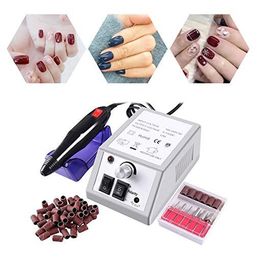 Elektrische Nagelfeile Elektrisch Nagelfräser Maniküre Set Plus 6BITs und Schleifhülsen mit geringem Rauschen und Vibration (Style 1) (s1)