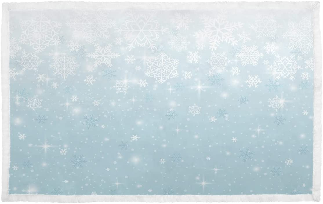 Dog Blanket for Price reduction Genuine Free Shipping Couch Blue Illustration Vector Snowflakes Rabbit