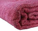 Kerry Woollen Mills Irish Wool Blanket, Fuchsia Pink