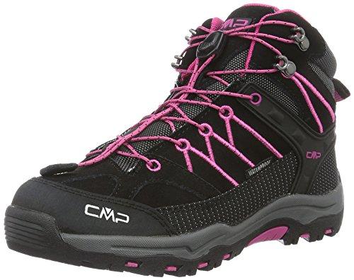CMP Rigel Mid Wp Unisex-Kinder Trekking-& Wanderschuhe, Grau (Antracite-HOT Pink 515Q_11), 32 EU