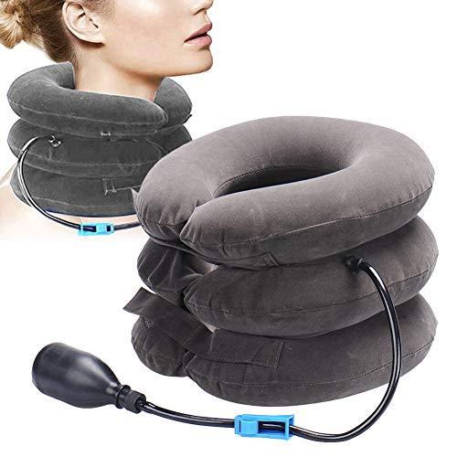 Neck Support, Cervical Traction Device, Cervical Neck Traction, Nackenzuggerät 3 Schichten, Aufblasbares Nackenkissen für den Nacken, Nackenkissen gegen Kopf-, Nacken- und Nackenschmerzen