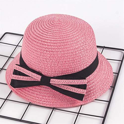 ZZBO Sonnenhut Breiter Krempe Cap Kinder Panama Hut mit Grograin-Band Bow Sommerhut Mädchen Sonnenschutzkappe