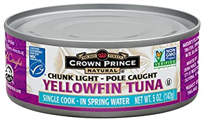 Crown Prince Natural Tuna, 5 Ounce Can (Pack of 12)