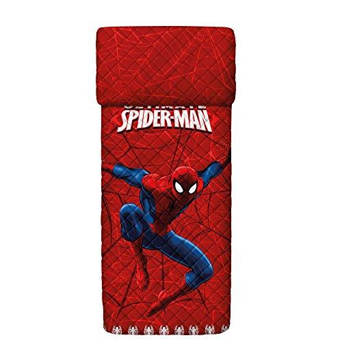 Bassetti Spider-Man sprei, gewatteerd, katoen, rood, single, 260 x 170 x 0,1 cm