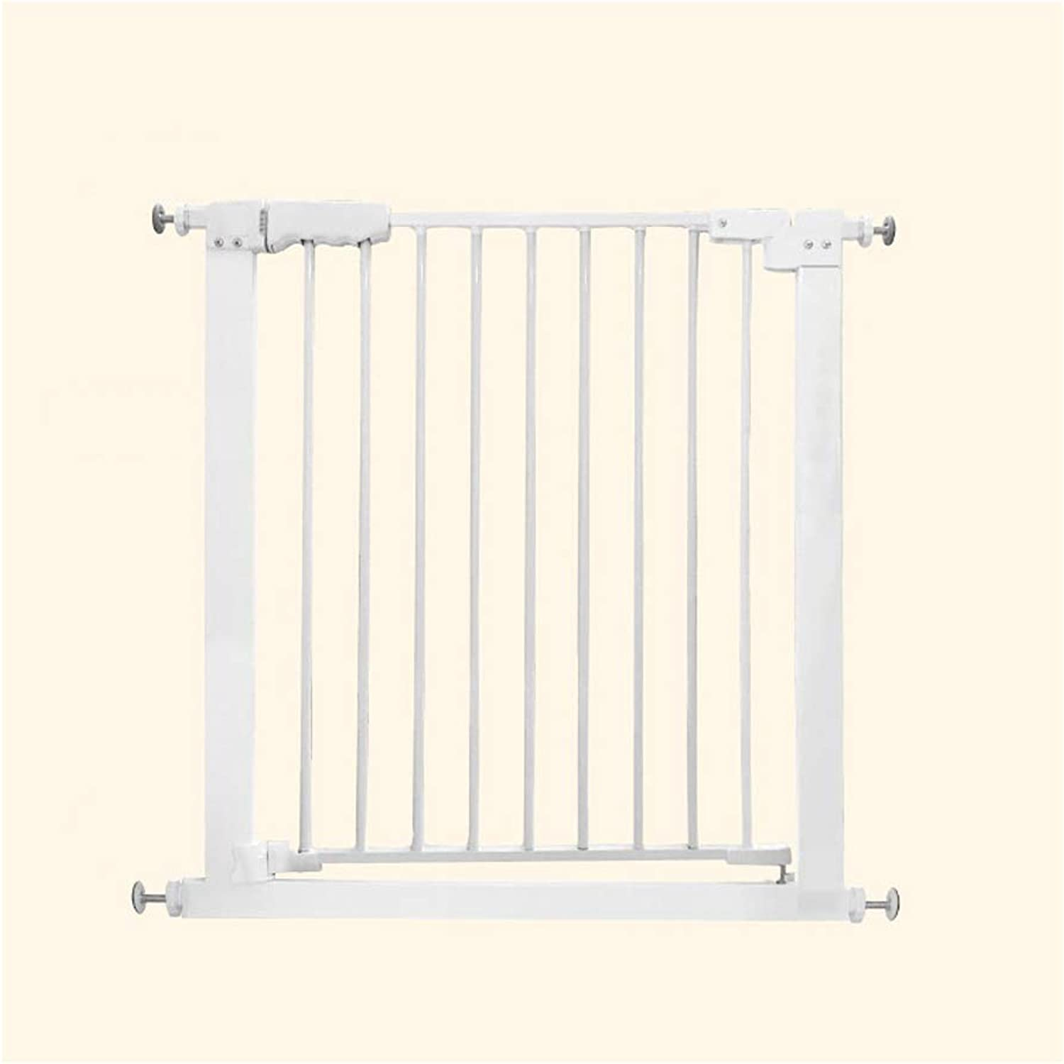 BNH Gate 65  78CM Pet Door Guard, Without Drilling Adjustable and Expandable Metal Fence Barrier, Suitable for Stair Foyer Hallway (White)