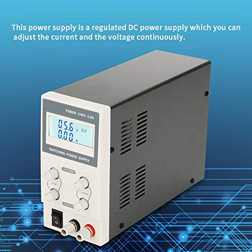 Fuente de alimentación de 220 V CC, fuente de alimentación de corte digital Fuente de alimentación programada Fuente de alimentación regulada para laboratorio Fuente de alimentación variable(PS6005)